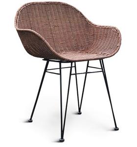 Крісло плетене Cruzo Ніки Нуово з натурального ротанга на металевих ніжках