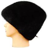 """Норковая женская шапка"""" Козачек """" цвет черный, фото 2"""