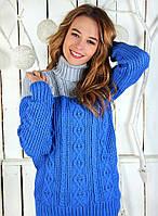 Удлинённый свитер под горло