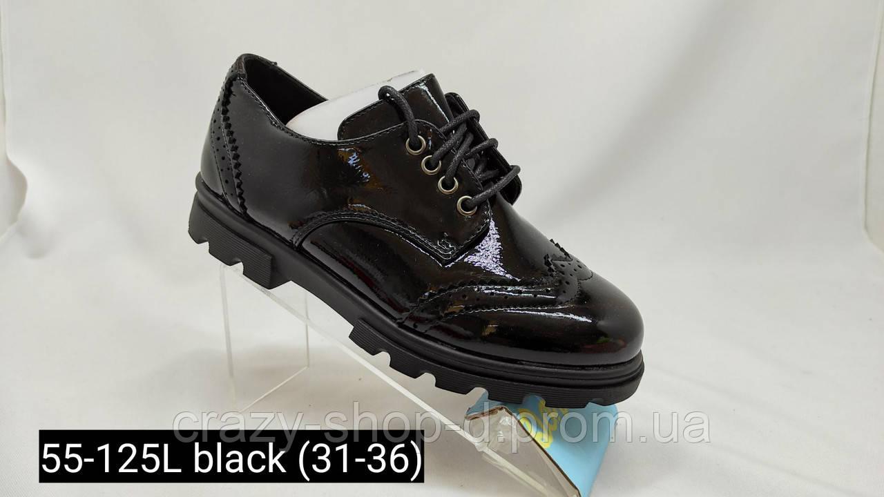 Черные туфли для девочки.Школа.