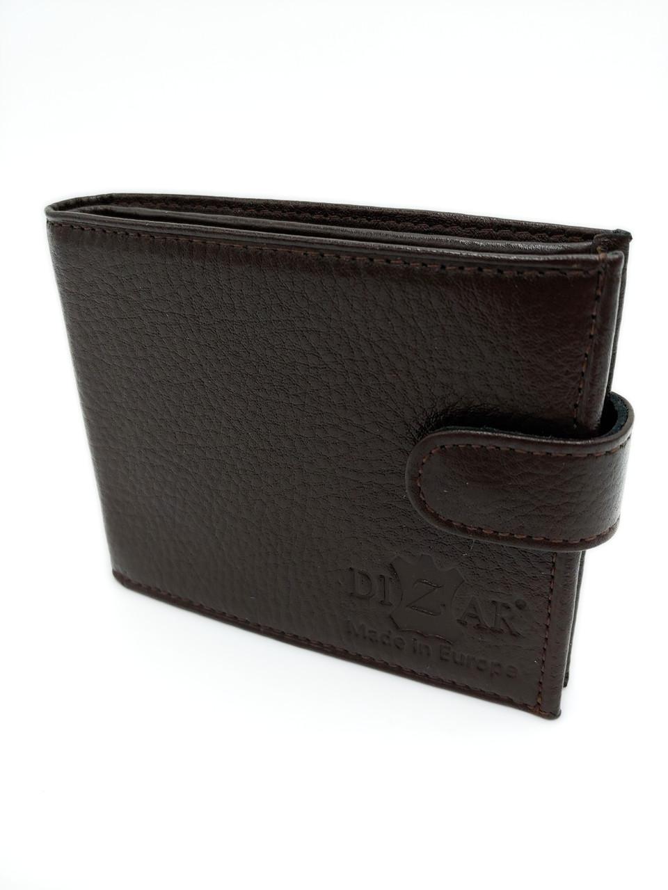 Портмоне мужское кожаный Dizar PRT1 коричневый