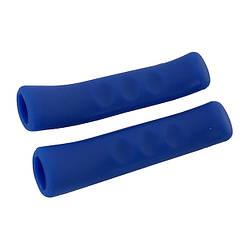 Силіконові накладки на гальмівні ручки Чорні Синій