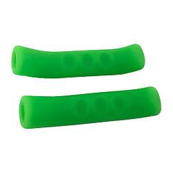 Силіконові накладки на гальмівні ручки Зелені