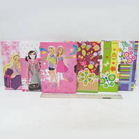 """Блокнот с картонной обложкой на замке """"Девочки, цветочки"""", 13х20 см, 60 листов,  Josef Otten"""