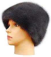 """Меховая  женская шапка модель"""" Козачек """" цвет ирис"""