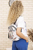 Рюкзак женский цвет черно-красный размер one size SKL87-303297