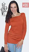 Женский свитер-туника со стильными рукавами Александра