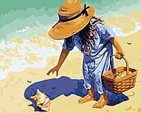 """Раскраска по цифрам """"Ракушка на берегу моря"""""""