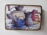 Магнит деревяный. Серия Кофе, 15/12 (цена за 1 шт. +3 грн.)