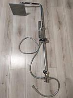Душевая панель (колонна) из латуни и пластика Q-Tap квадратный дизайн цвет хром без смесителя
