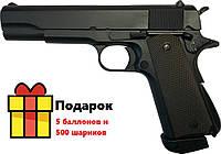 Пневматический пистолет ZBROIA M1911 Blowback, фото 1