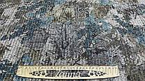 """Ткань серая ангора-лапша """"Вероника"""" цветочный принт"""