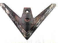 Лапа культиватора КПС 330 мм наплавка сормайтом Сталь-65
