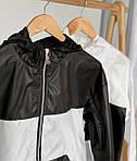 """Жіноча вітровка, плащівка """"Лакмат"""", р-р 42-44; 44-46 (чорний з білим), фото 2"""