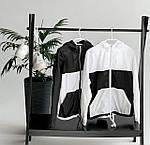 """Жіноча вітровка, плащівка """"Лакмат"""", р-р 42-44; 44-46 (чорний з білим), фото 5"""