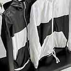 """Женская ветровка, плащевка """"Лакмат"""", р-р 42-44; 44-46 (белый с черным), фото 2"""