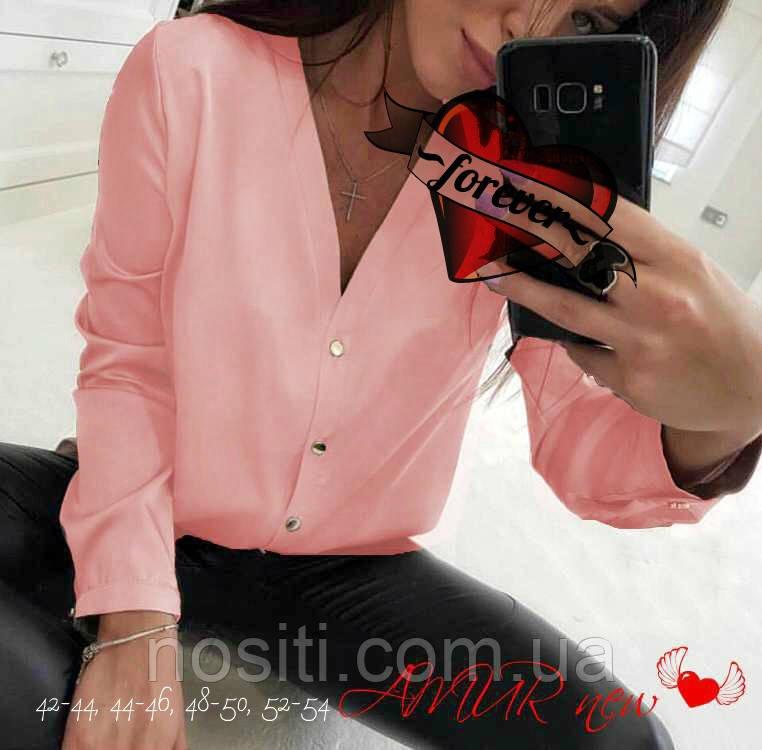 Жіноча сорочка шифон плюс сайз