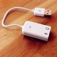 Внешняя звуковая карта Mac Win USB 7.1 Xear 3D virtual sound effect Skype VoIP подключение микрофона, аккустик