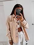 Жіноча сорочка, вельвет, р-р 42-44; 46-48 (беж), фото 2