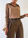 Женская рубашка, рубашечная ткань, р-р 42-44; 44-46 (мокко), фото 2