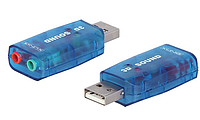 USB звуковая 5.1 (чипсет 6911) аудио адаптер sound для ПК, ноутбука stereo карта плата