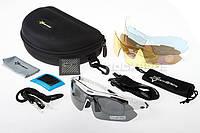 Поляризаційні сонцезахисні окуляри RockBros - 5 пар лінз - UW400. Policarbonate (White)