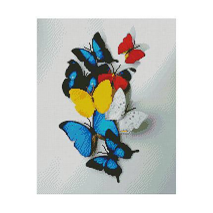 Алмазная вышивка 40x50 см. Яркие бабочки Strateg в подарочной коробке, фото 2