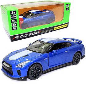 Игрушечная машинка металлическая «Nissan GT-R» Автопром Ниссан ГТ-Р, синий, 14*4*5 см, (68469)