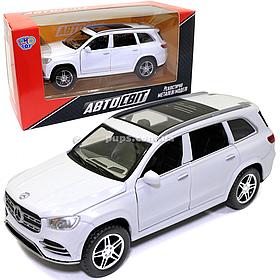 Машинка металлическая Mercedes-Benz «Автосвіт» Мерседес Джип белый, свет, звук, 16*7*6 см (AS-2862)