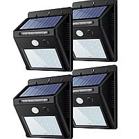 Світильник на сонячній батареї з датчиком руху 20 LED комплект 4 шт