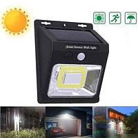 Уличный LED светильник с датчиком движения на солнечной батарее для дачи Premium YX-628, фото 1