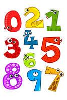 Веселые цифры для магнитной доски, 10шт