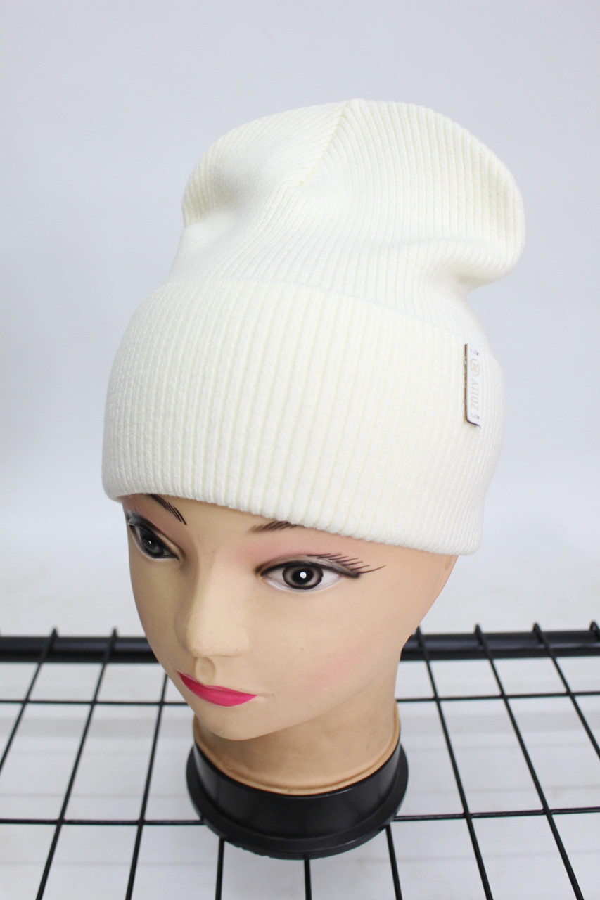 Шапка Zolly жіноча молодіжна однотонна (молочна) 801001