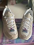 Бежеві кросівки skechers d lites, оригінал, фото 2