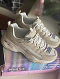 Бежеві кросівки skechers d lites, оригінал, фото 3