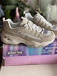 Бежеві кросівки skechers d lites, оригінал, фото 6