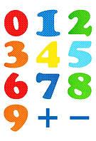 Обучающие магниты цифры, 30 шт