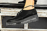 Женские туфли кожаные весна/осень черные-матовые, фото 9