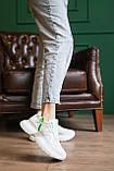 Женские кроссовки кожаные летние белые, фото 3