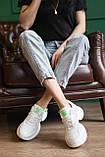 Женские кроссовки кожаные летние белые, фото 6