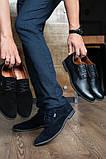 Мужские туфли замшевые весна/осень черные, фото 2