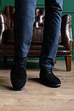 Мужские туфли замшевые весна/осень черные, фото 3