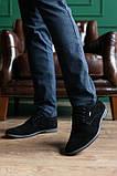 Мужские туфли замшевые весна/осень черные, фото 4