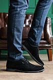 Мужские туфли замшевые весна/осень черные, фото 5