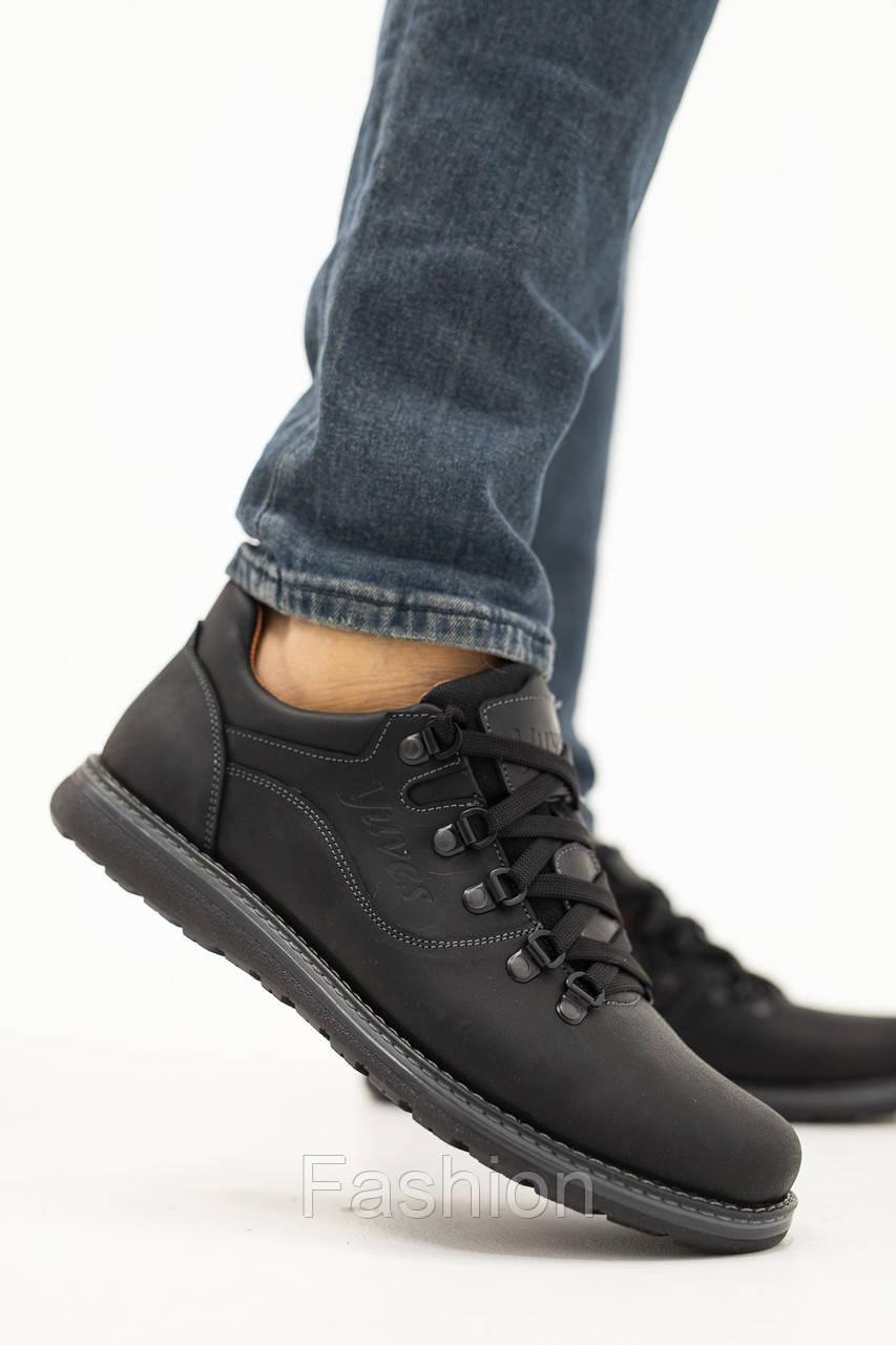 Чоловічі туфлі шкіряні весна/осінь чорні матові