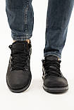Чоловічі туфлі шкіряні весна/осінь чорні матові, фото 4