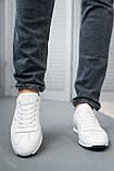 Мужские кроссовки кожаные весна/осень белые, фото 2
