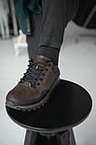 Чоловічі кросівки шкіряні весна/осінь коричневі-чорні, фото 8