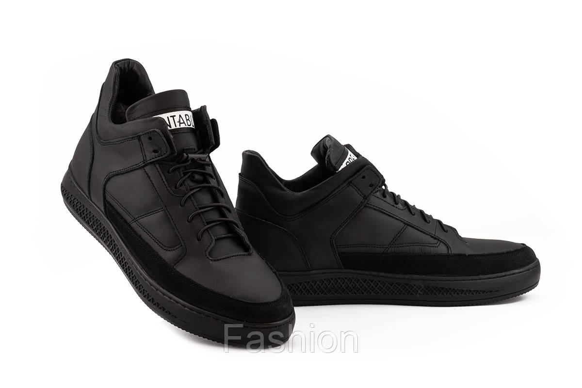 Чоловічі черевики шкіряні зимові чорні