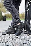 Чоловічі черевики шкіряні зимові чорні, фото 2